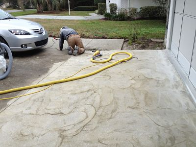 DECORATIVE CONCRETE OCALA FL DRIVEWAY RESURFACING SPRAY